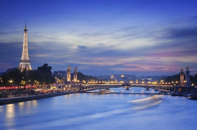 Torre Eiffel, Cruzeiro pelo Rio Sena e excursão de iluminações de Paris à noite