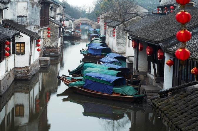 Viagem de um dia às aldeias de Suzhou e Zhouzhuang saindo de Xangai