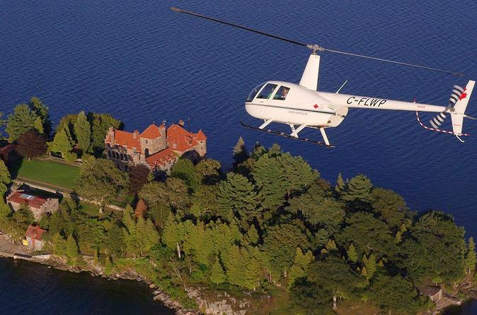 Thousand island helicopter tour including boldt and singer castles in gananoque 252430