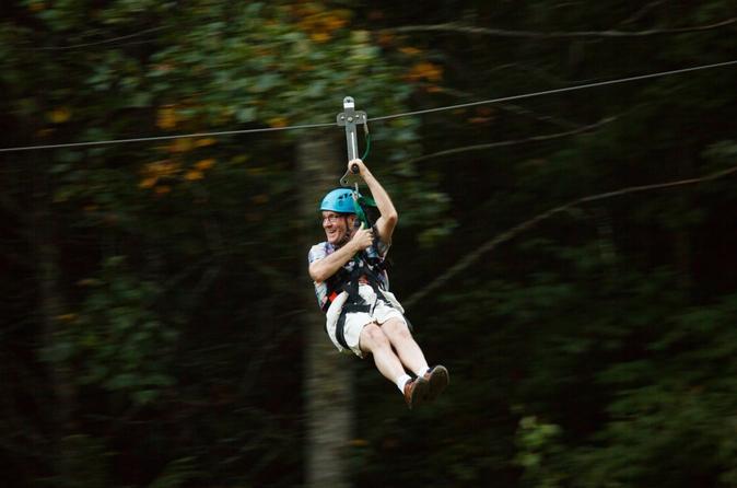 Goliath Zip Line Tour plus Activity Pass at Foxfire Mountain Adventure Park