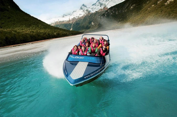 Milford Sound Fly Cruise Fly and Dart River Jet Boat Experience