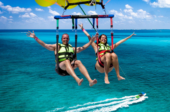 Parasail em Cancun, incluindo o transporte