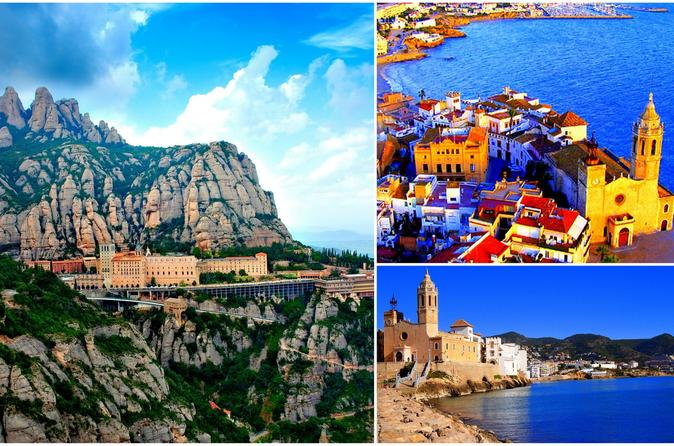 Montserrat and Sitges Full Day Guided Tour: Easy Hike with Hotel Pick-up from Barcelona