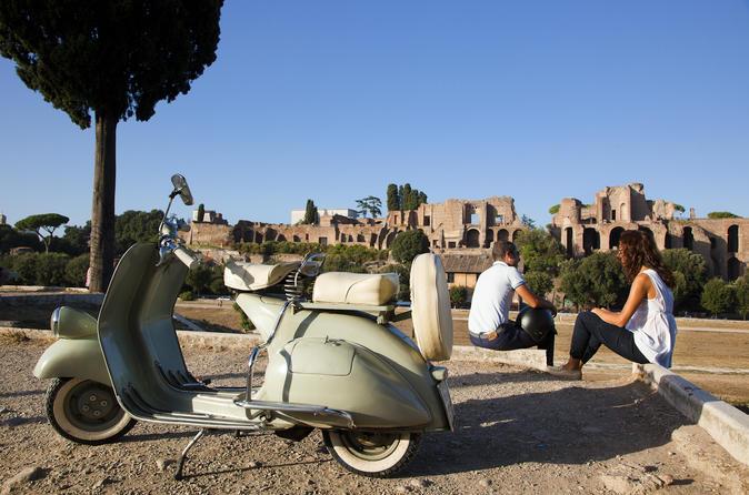 Rome Vintage Vespa Tour with Gourmet Picnic Experience at Villa