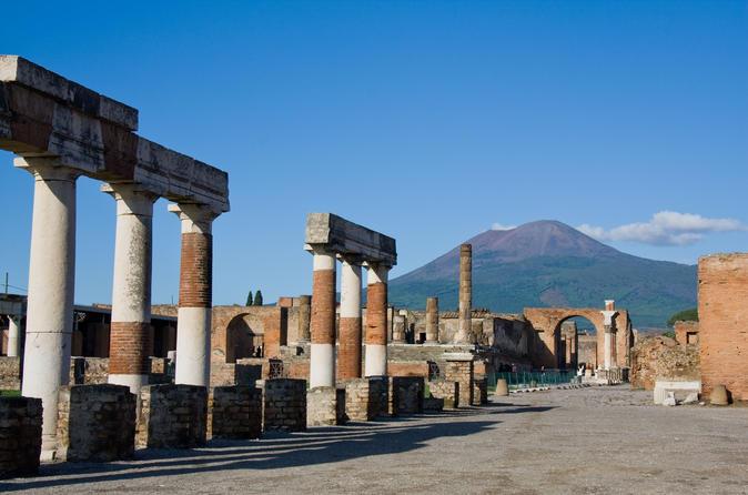 Excursão diurna privada de Roma a Pompeia e Sorrento