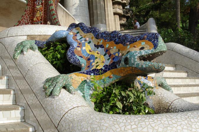 Evite as filas: excursão a pé guiada: Parque Güell de Gaudí em Barcelona