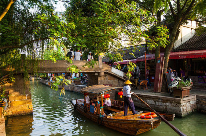 Zhujiajiao Water Village Tour With English Driver Guide