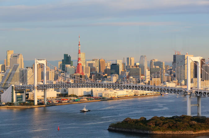 Excursão diurna em Tóquio - Santuário Meiji, templo Asakusa e cruzeiro pela Baía de Tóquio