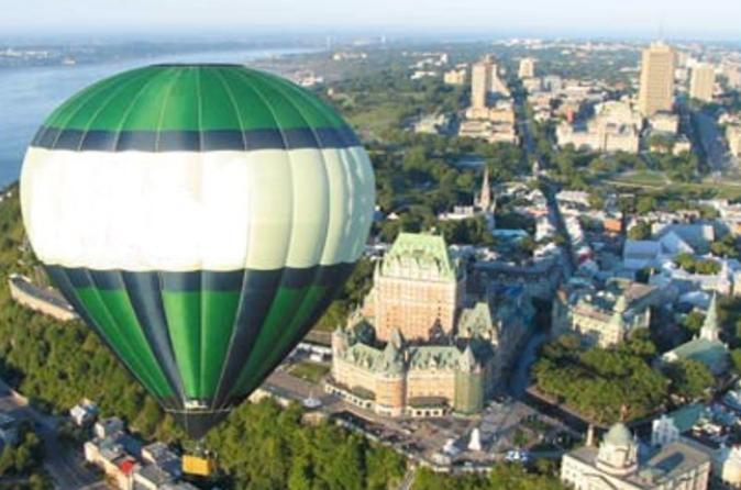 Quebec hot air balloon flight in quebec city 36765