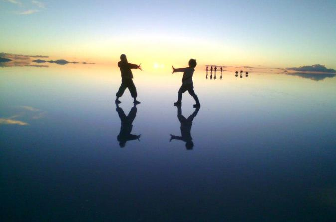Sunrise at salar de uyuni in uyuni 255588