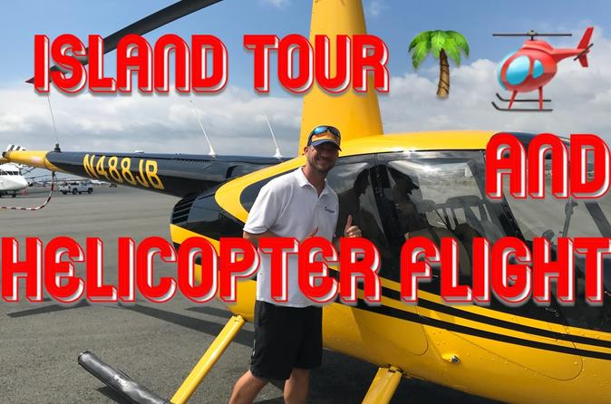 Oahu Private Custom Island Tour with Helicopter Flight - Full day Land and 30 Min Air Tour