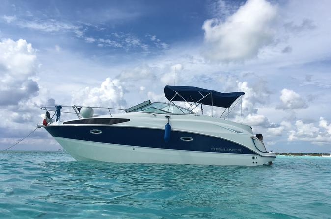 Cozumel Private Sightseeing Tour Aboard Bayliner Luxury Boat