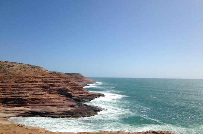 Kalbarri pink lake and abrolhos islands air and land tour from in geraldton 252283
