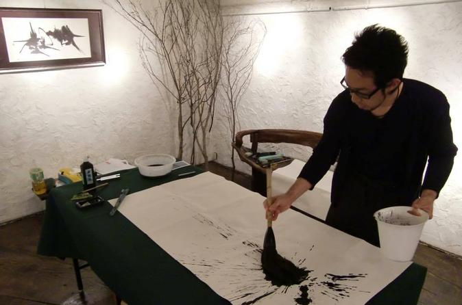 Tokyo Traditional Japanese Calligraphy Experience With A Calligraphy