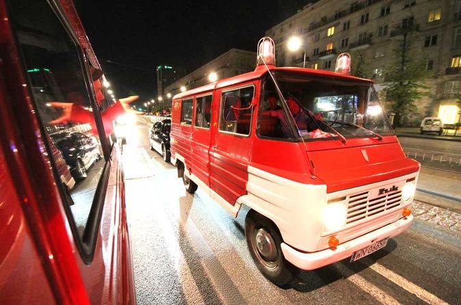 Evening warsaw city tour in communist fire van in warsaw 253314