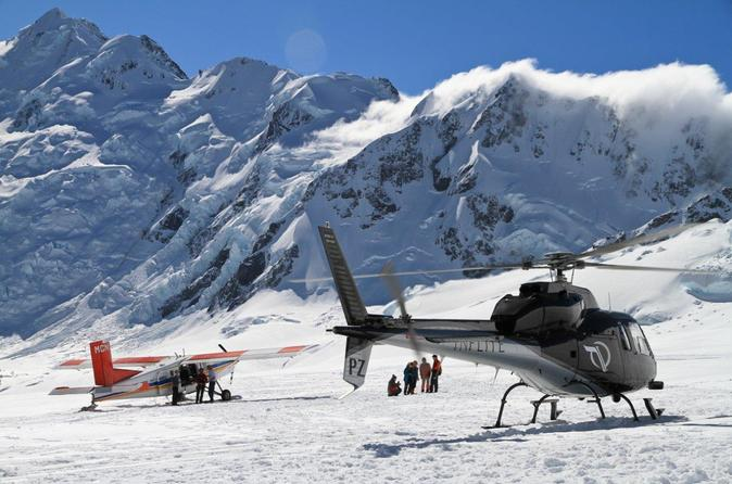 35 minute mount cook ski plane and helicopter combo tour in mount cook national park 287581