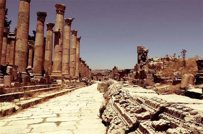 Private Full Day Tour to Jerash with Citadel and Roman Theater from Dead Sea