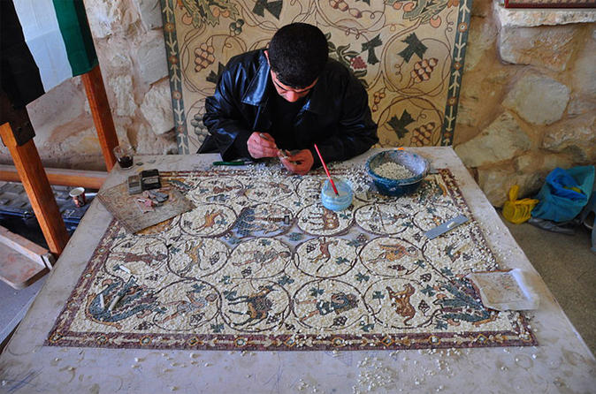 Private Tour: Full-Day Mosaic Tour with Mosaic Workshop Experience from Amman