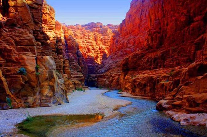 Private Wadi Mujib Siq Trail Hiking Experience from the Dead Sea