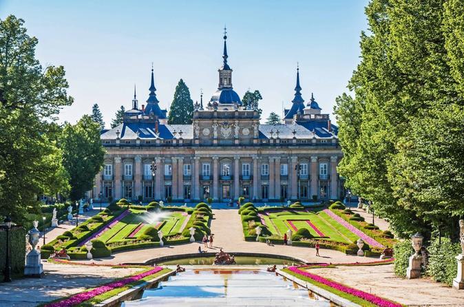 Segovia and La Granja Royal Residence with Alcazar Entrance from Madrid