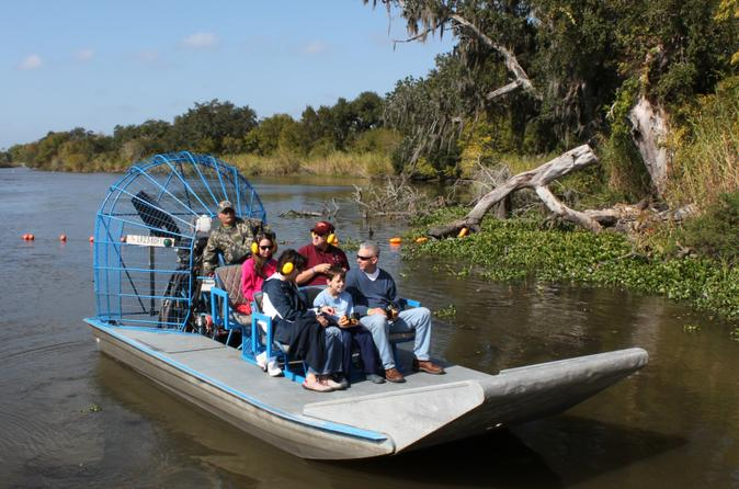 Small group bayou airboat ride with transport from new orleans in new orleans 146803