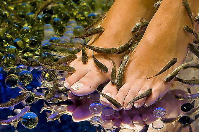 20-Minutes Natural Pedicure With Exotic Fish - Athens