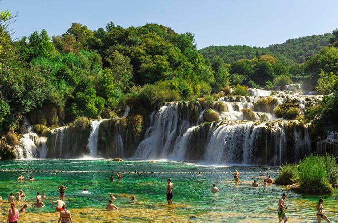 Krka Waterfalls and Sibenik Town Day Trip with Free Wine Tasting from Split