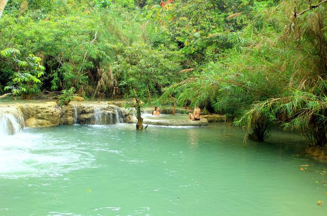 Private Day Trip to Pak Ou Cave and Kuang Si Waterfall from Luang Prabang""