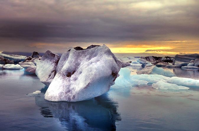 Excursão guiada à lagoa glacial