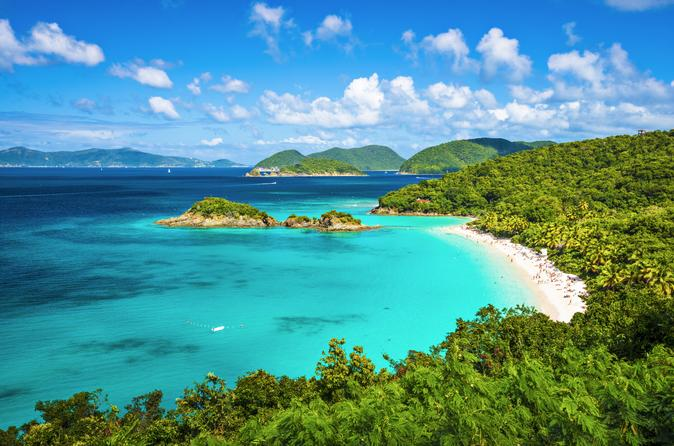 St. Thomas St John Day Trip from St Thomas: Island Sightseeing and Snorkeling at Trunk Bay U.S. Virgin Islands, Caribbean