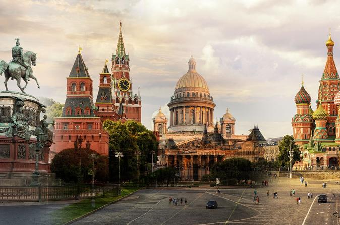 Small Group Visa Free St Petersburg and Moscow 3 Day Grand shore excursion