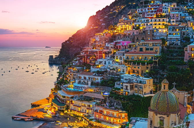Positano by night with dinner in sorrento 260154