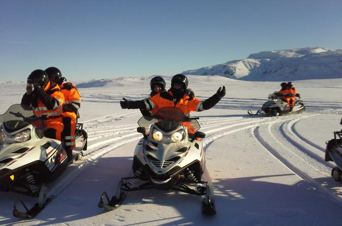 Golden Circle Super Jeep adventure with snowmobiling