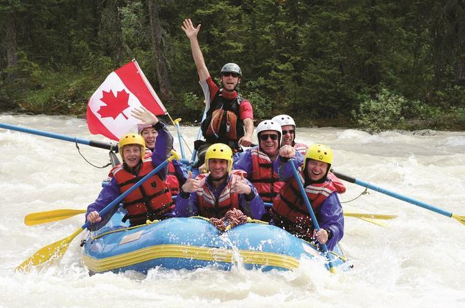 Jasper rafting on sunwapta river class iii in jasper 264639