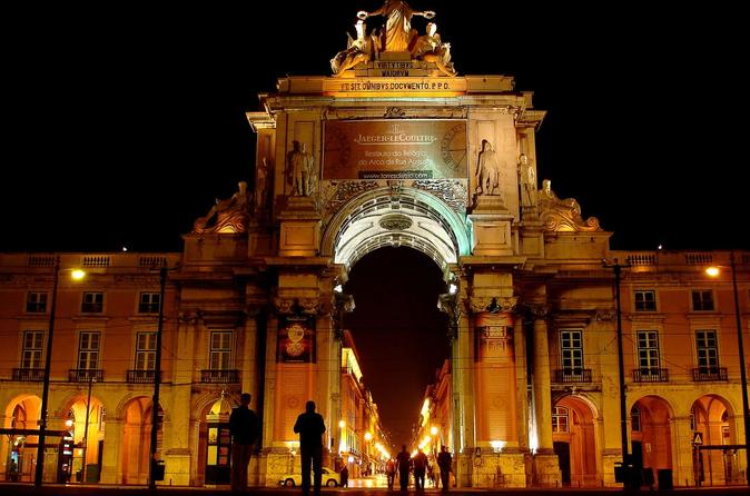 Excursão particular: Jantar com show de fado em Lisboa e excursão noturna panorâmica