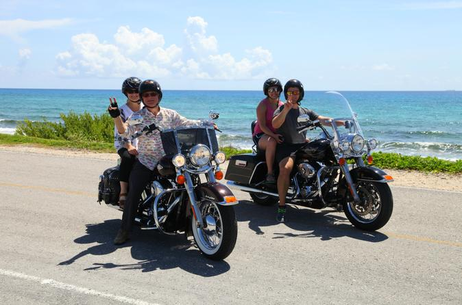 Cozumel Sightseeing Tour Aboard a Harley-Davidson