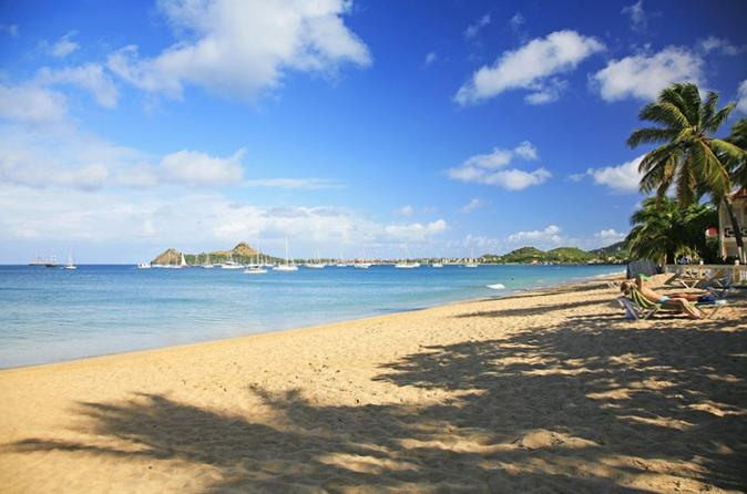 St Lucia Shore Excursion: North Island Tour with Creole Lunch at Reduit Beach