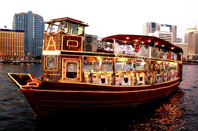Luxury dubai dhow dinner cruise including sightseeing for Luxury travel in dubai