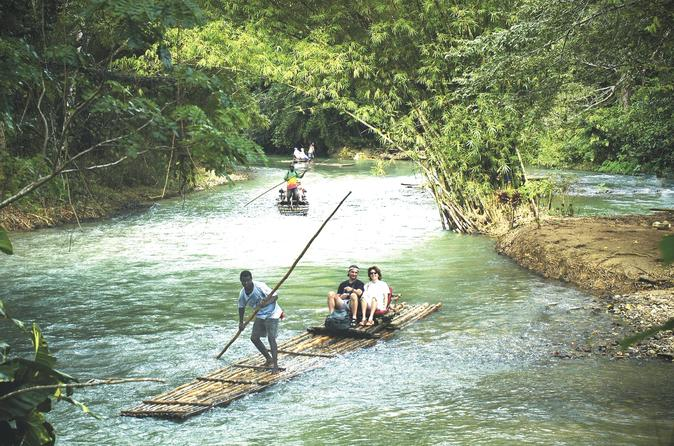 Irie Adventure - Martha Brae Rafting and Dunn's River Falls from Falmouth