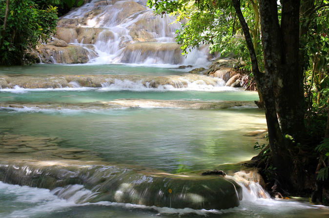 Martha Brae River Rafting and Dunn's River Falls Tour from Ocho Rios