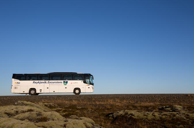 Flybus Airport Shuttle between Keflavík Airport and Reykjavík City Center