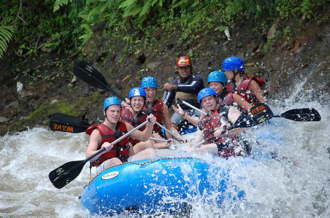 Canopy & Rafting combo Adventure Tour at Hacienda Pozo Azul from San Jose