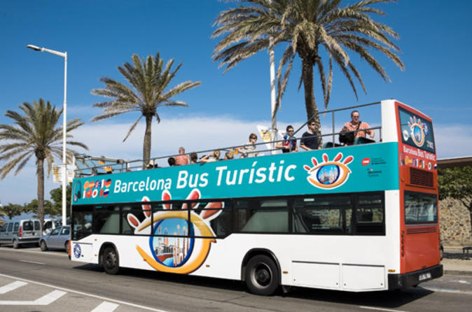 Barcelona hop on hop off tour north to south route in barcelona 45257