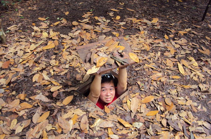 Cu Chi Tunnels Tour with Saigon River Speedboat Cruise from Ho Chi Minh City in Vietnam Asia