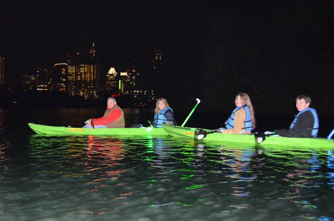 Glass bottom illuminated night kayak tour in austin 278715