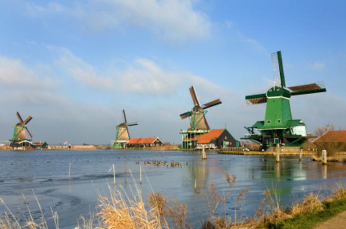 Excursão terrestre por Amsterdã: Viagem de meio dia aos moinhos de vento de Zaanse Schans, a Marken e Volendam