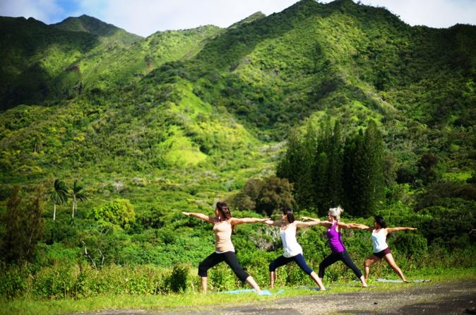 Jungle Waterfall Hike: Beachfront Yoga and Sacred Paths of Pali-Manoa