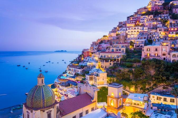 Viagem semiparticular de um dia a Pompéia e a Costa Amalfi saindo de Roma