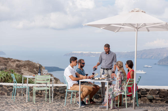 Santorini wine roads tour with wine tastings in thera 430994