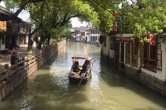 Private Day Trip to Zhujiajiao Ancient Water Town plus Shanghai Scenic Highlights